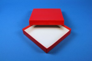 ALPHA Cryo Box 25 (cardboard special) / without divider, red, height 25 mm