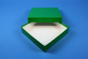 ALPHA Cryo Box 25 (cardboard special) / without divider, green, height 25 mm