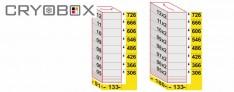 MTP Etagère verticale boite 58 mm h.