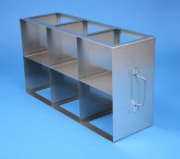 CellBox Maxi  cryo cabinet rack 3x2 compartments for 6 Cryo boxes up to 148x148x128 mm folding handle, open frame