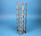 CellBox Mini Truhengestell für 6 Kryoboxen bis 122x122x128 mm Klappgriff, Edelstahl