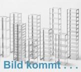 CellBox Mini lang Truhengestell für 2 Kryoboxen bis 122x237x128 mm Klappgriff, Edelstahl