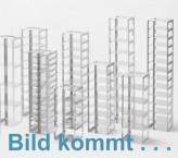 CellBox Mini lang Truhengestell für 5 Kryoboxen bis 122x237x128 mm Klappgriff, Edelstahl