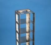 NANU 50 Truhengestell für 10 Kryoboxen bis 76x76x53 mm Klappgriff, Edelstahl